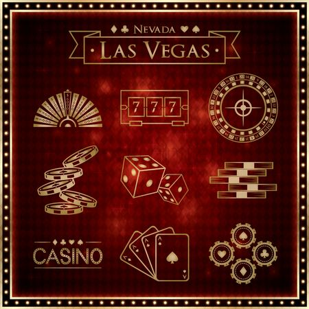 Poker chips : Las vegas games collection