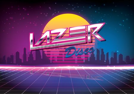 Party : Lazer disco design
