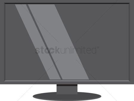Plasmas : Lcd tv over a white background