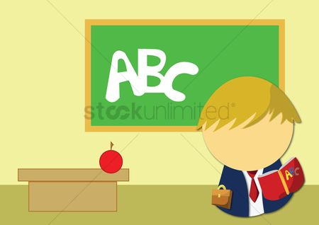 Write : Learning alphabet in classroom