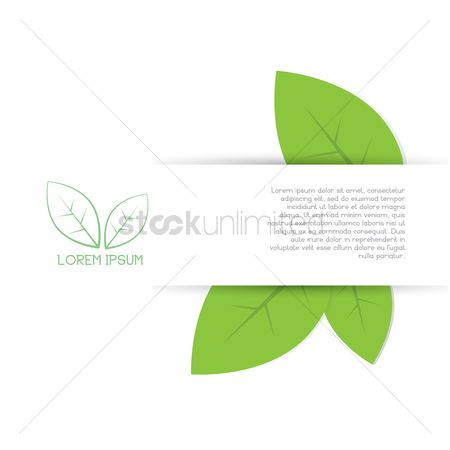 Lorem ipsum : Leaves banner background