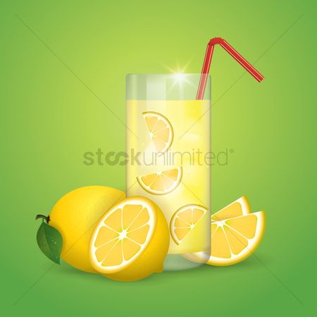 Straw : Lemon juice and slices
