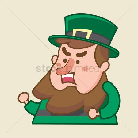 Annoy : Leprechaun looking frustrated