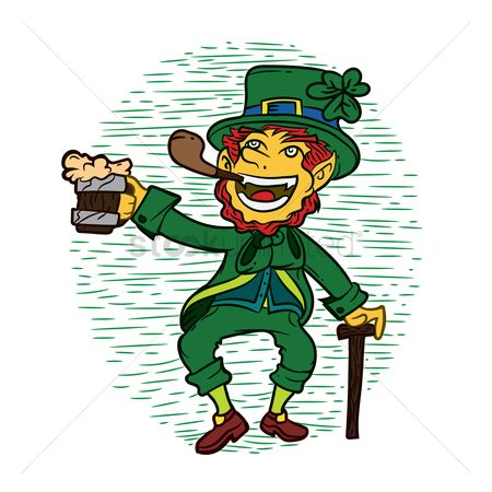 Smoking pipe : Leprechaun with beer mug