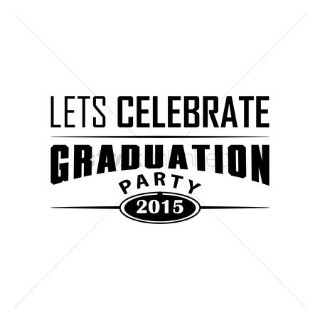 Poster : Lets celebrate graduation party poster