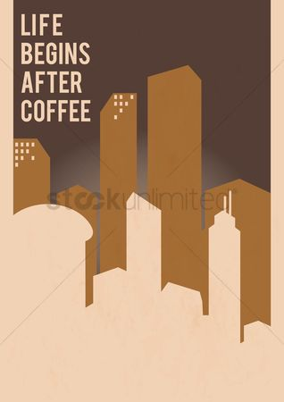 Poster : Life begins after coffee design