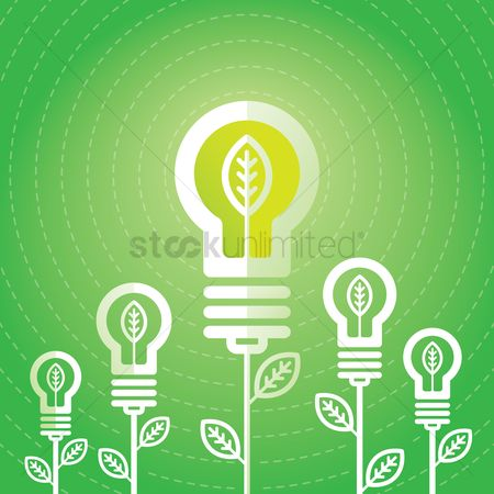 Smart : Lightbulb concept - growing ideas