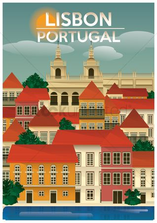 Country : Lisbon portugal poster