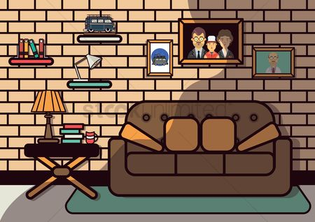 Brick : Living room