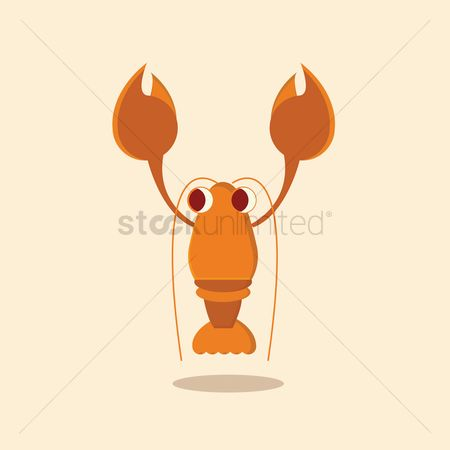 Claws : Lobster on beige background
