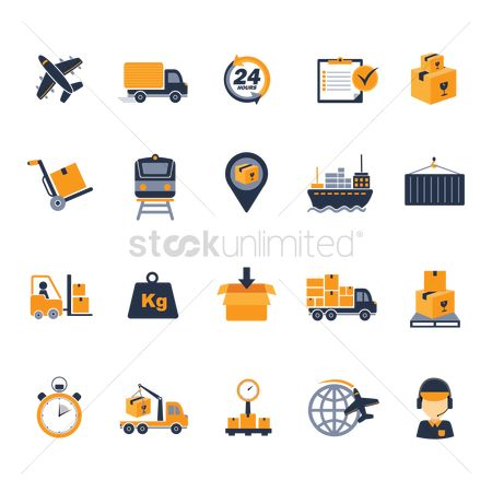 Fork : Logistic icons