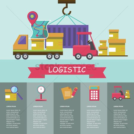 Lorries : Logistic infographic