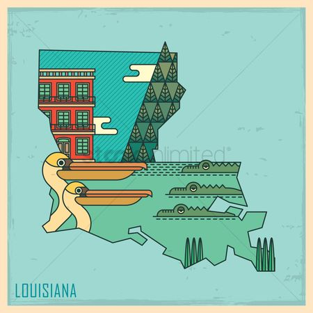 State : Louisiana state map