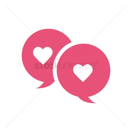 Love speech bubble : Love chat
