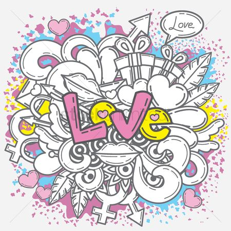 Love speech bubble : Love poster
