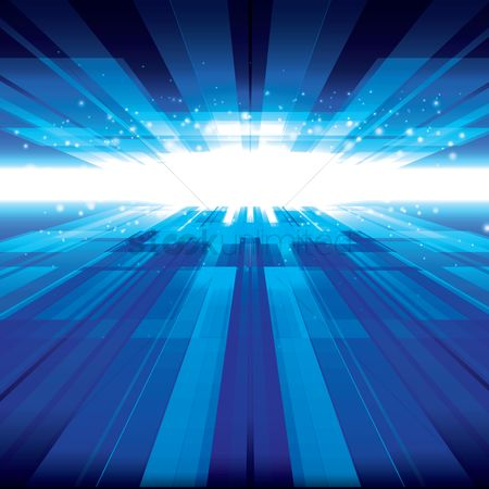 Illumination : Luminous light with blue bars background