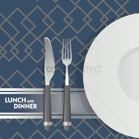 Plates : Lunch and dinner poster