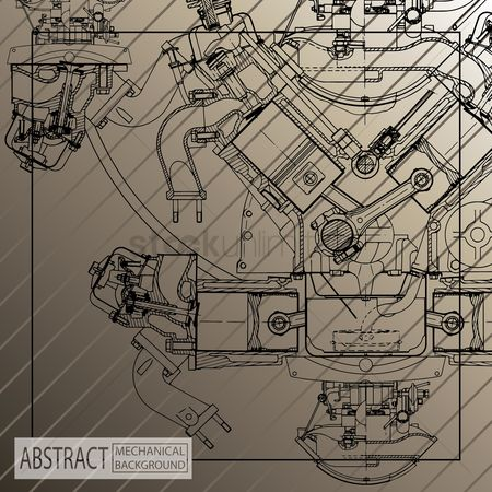Mechanicals : Machine background design