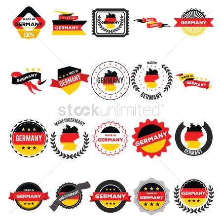 Nation : Made in germany label set