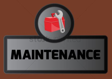 Wrenches : Maintenance board with toolbox icon