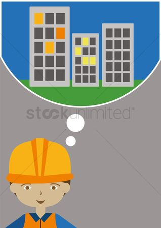 Contractor : Male architect