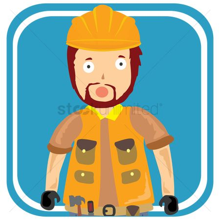 Contractor : Male construction worker