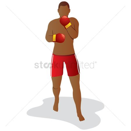 Boxing glove : Man boxing