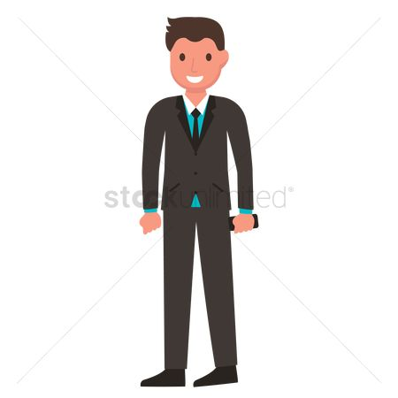 Man suit fashion : Man in formal clothes