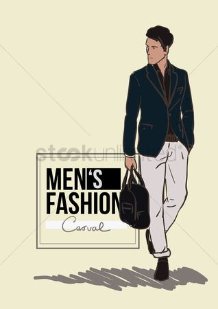 Footwears : Man in smart casual clothing