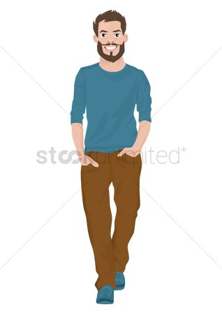 Warm : Man in sweater and long pants