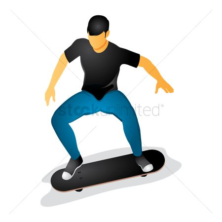 Skateboard : Man on skateboard