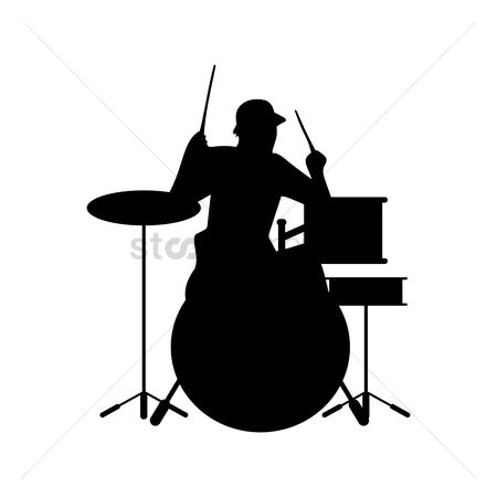 Drums : Man playing drums
