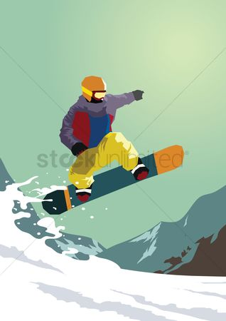 Hiking : Man skiing