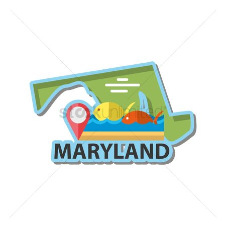 Navigators : Map of maryland state