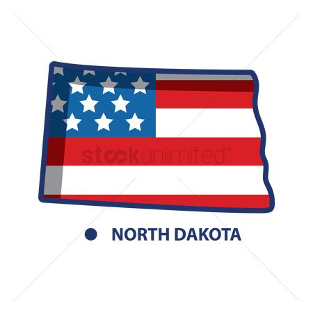 Dakota : Map of north dakota