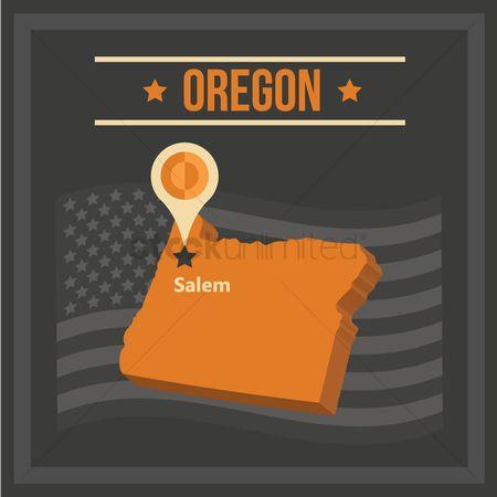 Capital Of Oregon Map.Free Oregon State Capital Stock Vectors Stockunlimited