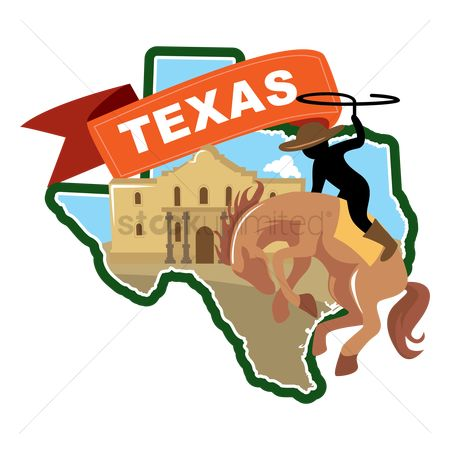 United states : Map of texas