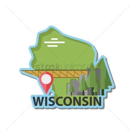 Navigators : Map of wisconsin state