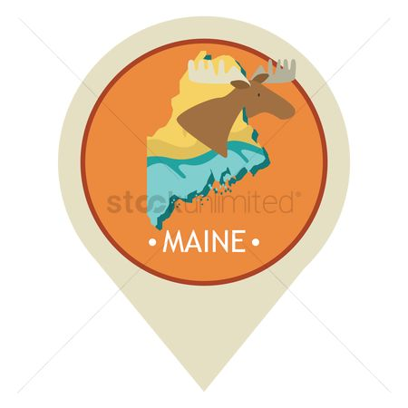 Navigators : Map pointer with maine state