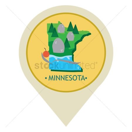 Navigator : Map pointer with minnesota state