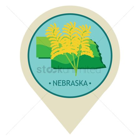 Navigators : Map pointer with nebraska state
