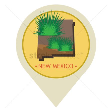 Navigators : Map pointer with new mexico state