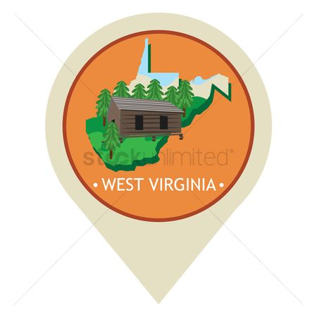 Navigators : Map pointer with west virginia state
