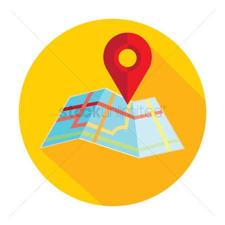 Map pin : Map with pin pointer