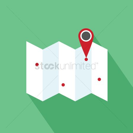 Map pin : Map with pointer