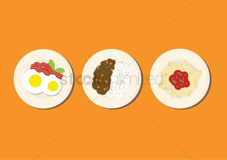 Lunch : Meal variety on a plate