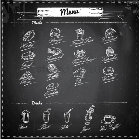 Sketching : Meals and drinks menu