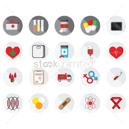 Cardiogram : Medical icons