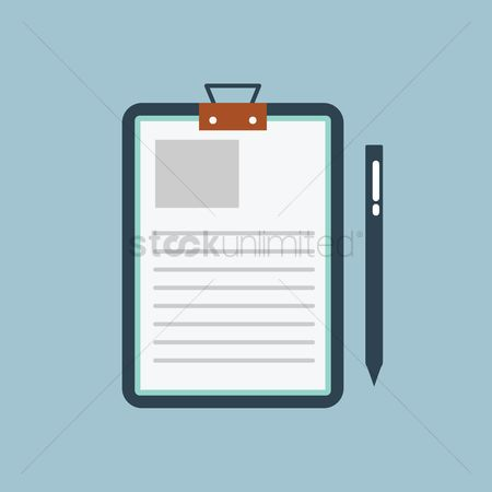 Medical : Medical report on clipboard with pen