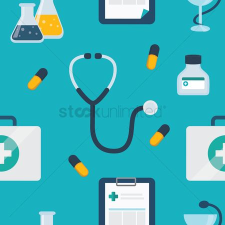 Healthcare : Medical seamless pattern